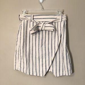 Madewell | Linen Striped Tie Skirt Sz 2